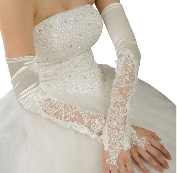Длинные Свадебные Перчатки Кружевные Перчатки Красный Ультра Длинные Осенние И Зимние Свадебные Перчатки Варежки Белый G021