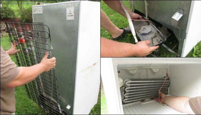 Fridge Cooler - Taking Out Parts