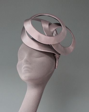 Silver Looped Band hat - or a deconstructed Princess Beatrice hat
