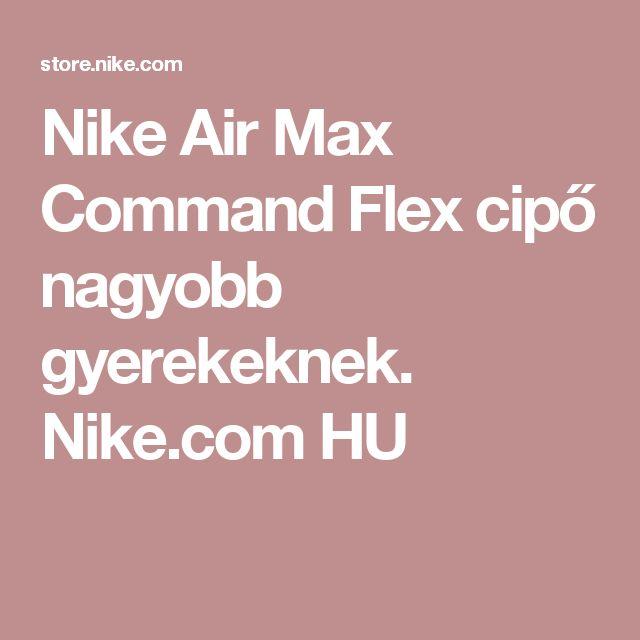 Nike Air Max Command Flex cipő nagyobb gyerekeknek. Nike.com HU