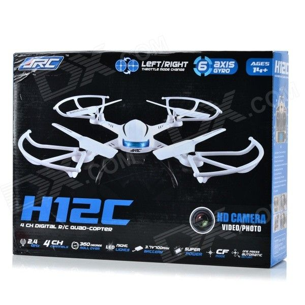 JJRC H12C 2.4GHz UFO w/ 6-Axis Gyro/Headless Mode/5.0MP Camera - White