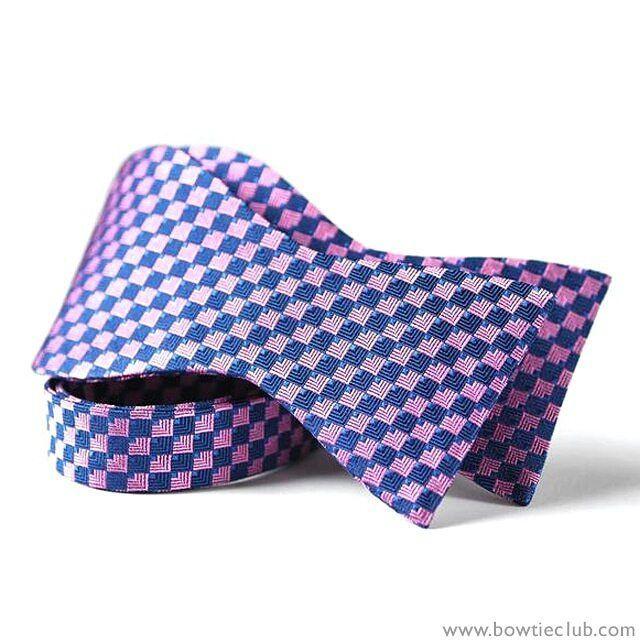 Pre tied bow tie - Woven Jacquard silk in solid magenta purple Notch Sale UiuDo