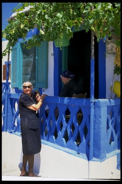 "It doesn't get any more ""Greek"" than this ! Grannies gossiping in Vathi, Kalymnos (Sailing in Greece)"