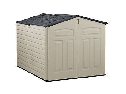 The Rubbermaid Slide Lid Shed Is Short Enough To Fit Under