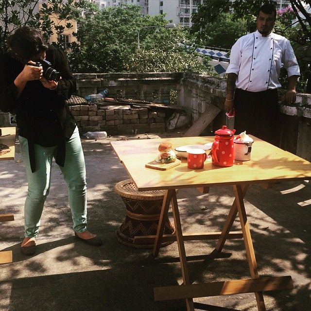 At The Food Studio ... Countdown for #21daysoffood has begun .. Photography by Roshni Ali. #muchawaited #chefurvika #surprisesurprise #shootday @theroshniali @theglobalfoodie
