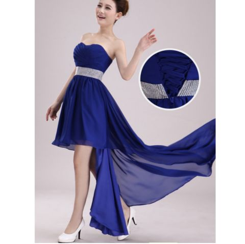Crystal Sleeveless Chiffon Prom Dress
