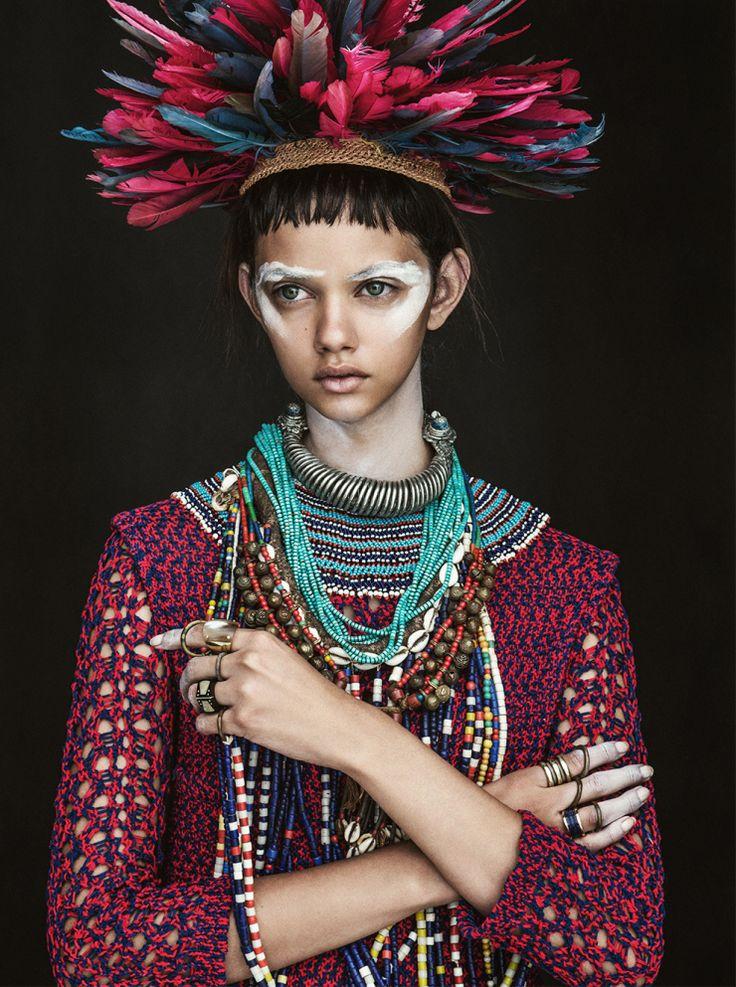 Marina Nery by Sebastian Kim for Vogue Australia April