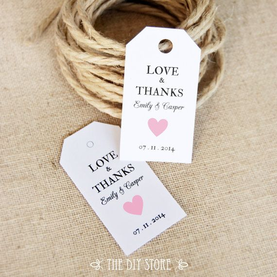 Thank You Wedding Gift Template : Gift Tag Template SMALL Gift Tags Soft Pink Heart by TheDIYStore, USD5 ...
