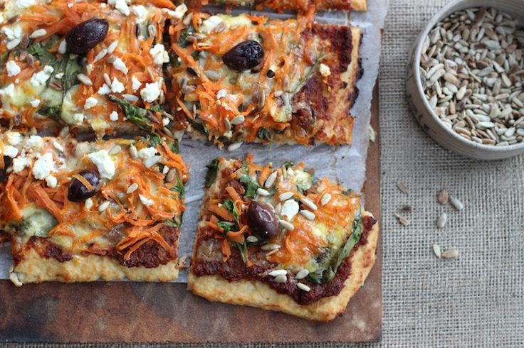 CAULIFLOWER CRUST PIZZA {includes dairy-free option} | Homegrown Kitchen (sub for clean ingredients: coconut oil): the crust will not be as firm as a flour-based dough. It should hold together in your hand but is not crispy.