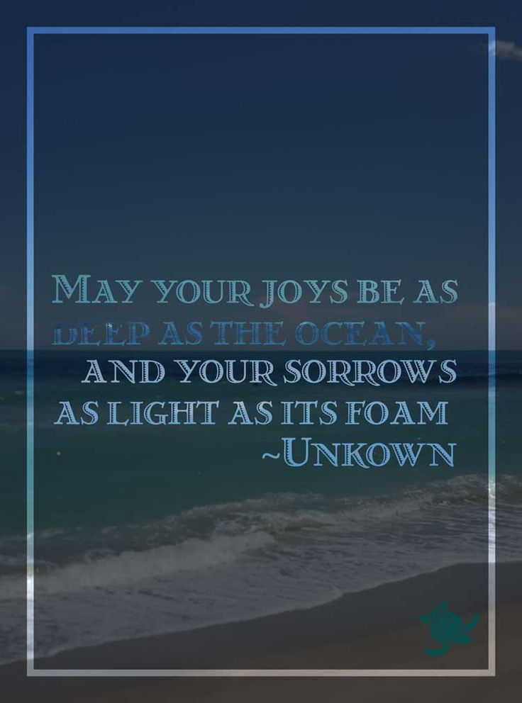 May your joy be as deep as the ocean, and sorrow as light as its foam.  https://twitter.com/southfloridah2o/status/609090927412547584
