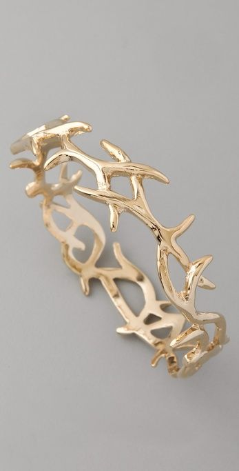 Golden antler bangle bracelet, beautiful and Oh So Southern!