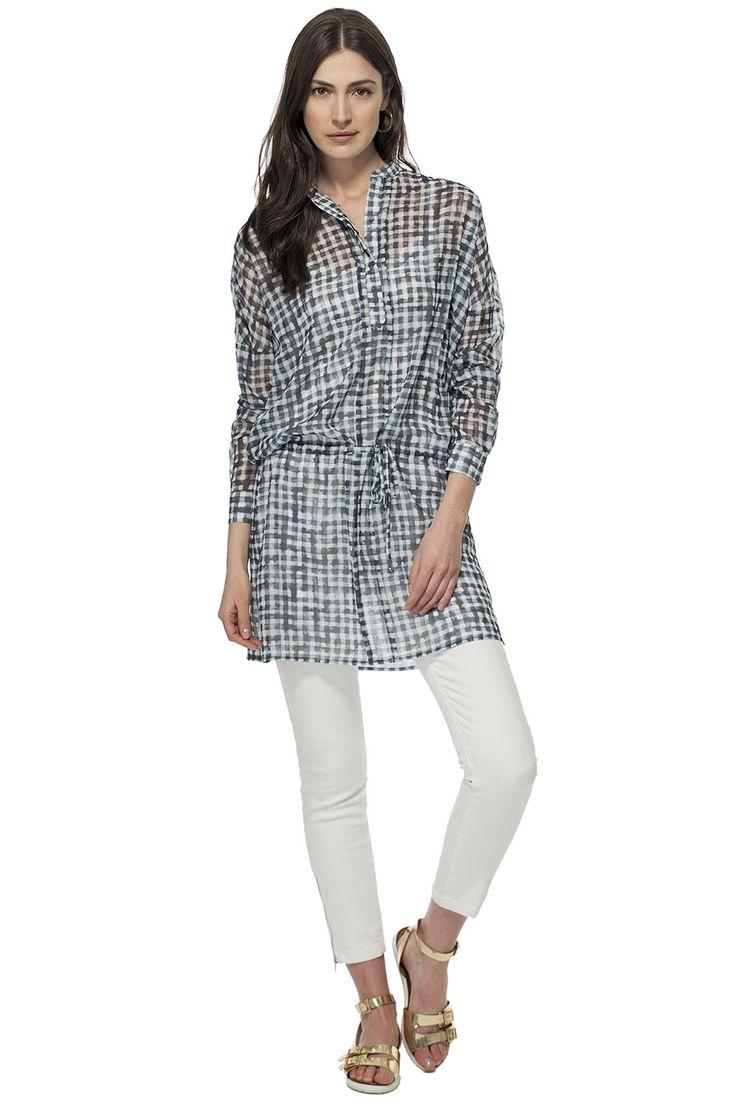 Blouse ample à carreaux, parfaite pour un look décontracté / Our plaid shirt is perfect for a casual look #tristanstyle #ss15