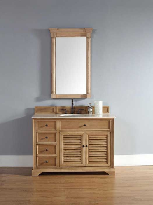 Buy The James Martin Furniture Savannah 48 Single Vanity In Natrual Oak  With Galala Beige Stone Top   Vanity Top Included From Homecl