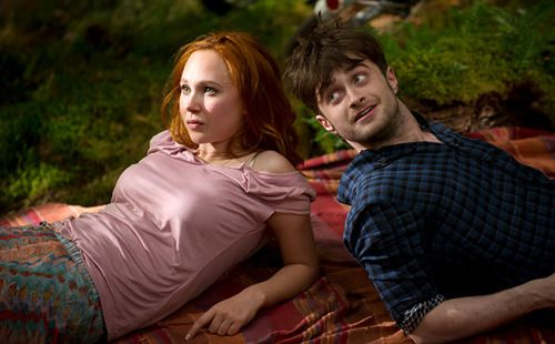 Daniel Radcliffe and Juno Temple in Horns, 2014.