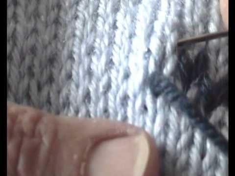 Come ricamare su maglia rasata - Fai da Te Mania