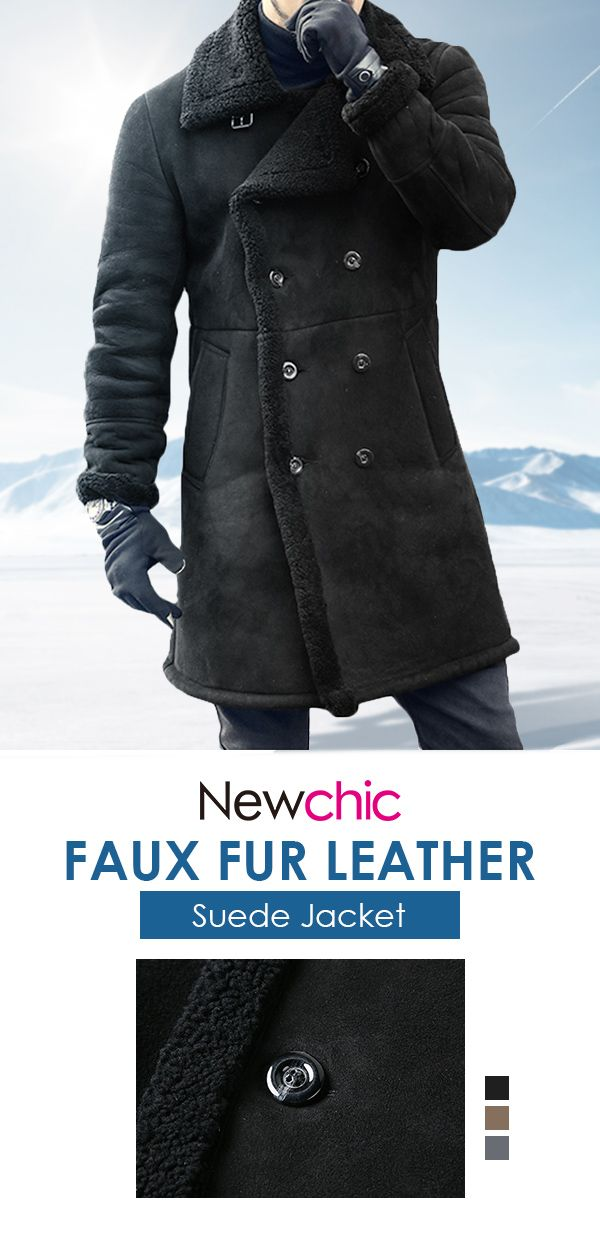 146fa145133923 Mens Mid Long Faux Leather Coat #menswear #outdoor #jacket #coat ...