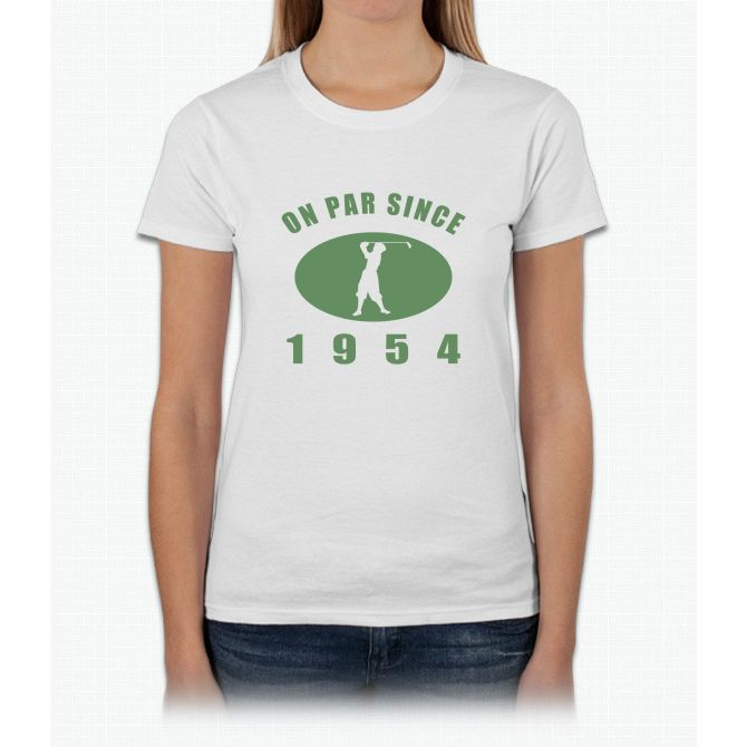 1954 Birthday Golf Womens T-Shirt