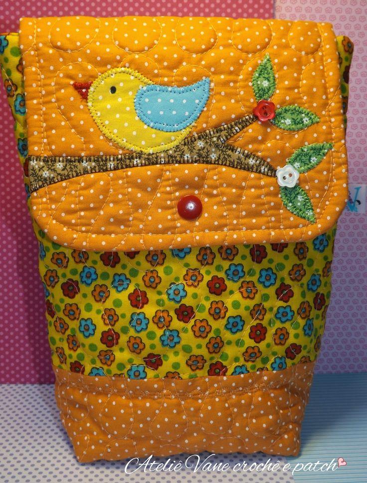 Vanecroche e patch: Porta fraldas patchwork com passo a passo