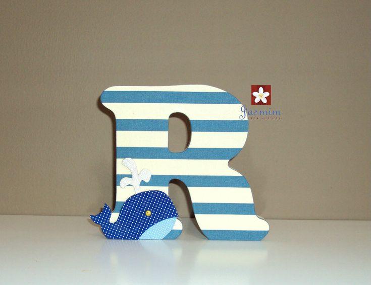#letrasdecorativas #letrasiniciais #letra #letradobebe #nomedobebe #decoracao #decoracaoinfantil #quartodebebe #quartoinfantil #quartodemenino #mar #marinheiro #chadebebe #chadefraldas #jasmimartesanato #riodejaneiro
