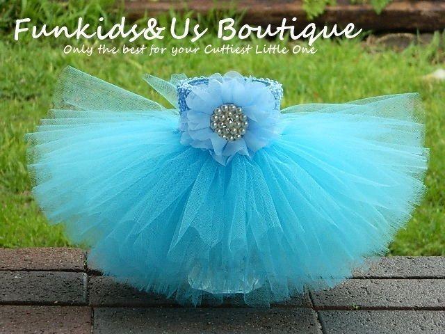 Baby Aqua Blue Tutu skirt -Aqua blue tutu 3,6,9,12 months