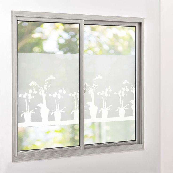 Simple Details zu casa pro Sichtschutzfolie Milchglas Blumen cm x m statisch Fenster