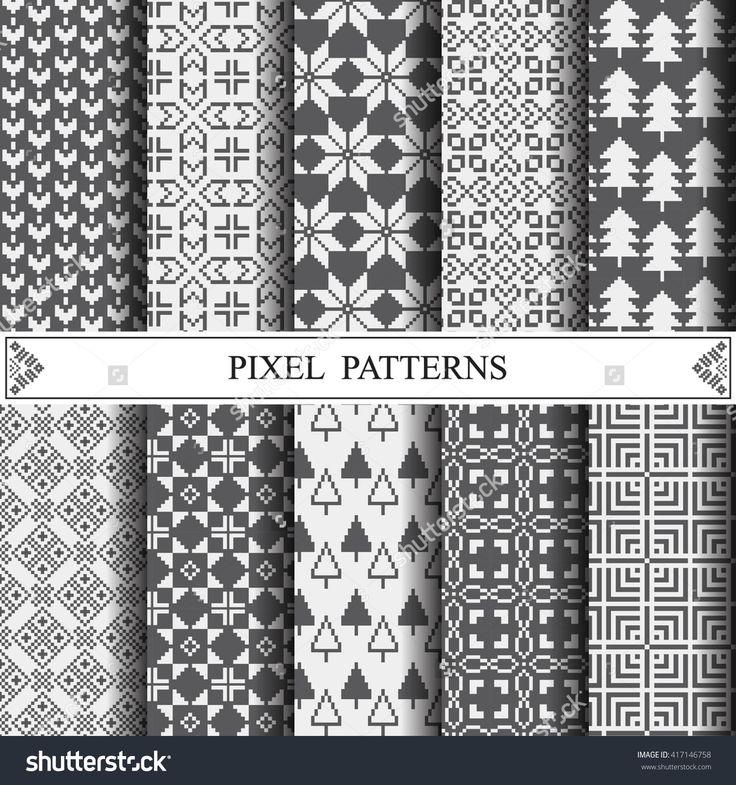 Pixel Pattern, Textile, Pattern Fills, Web Page Background, Surface Textures Ilustración vectorial en stock 417146758 : Shutterstock