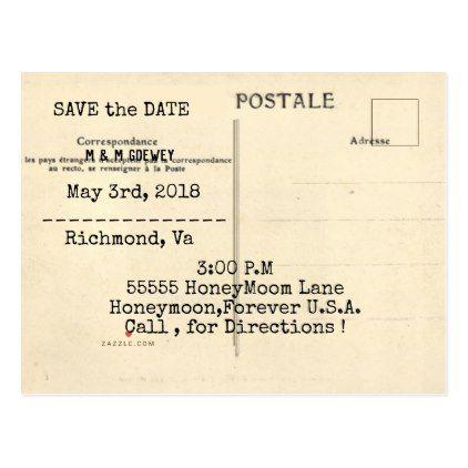 Wedding-Old-Postcard-Invitation-Jade-Template Announcement Postcard