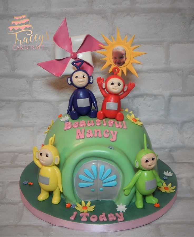 Teletubby cake, all edible