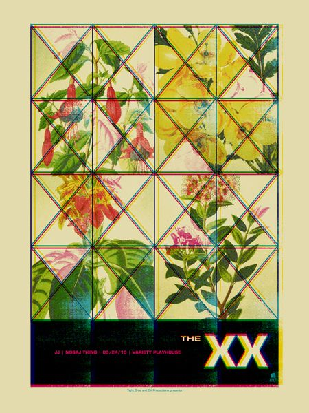 The XX concert poster by Methane Studios