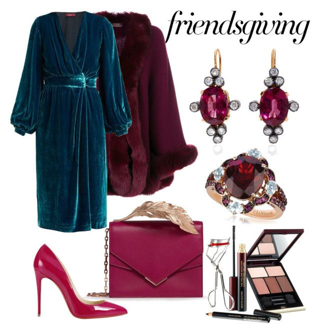 """""""Friendsgiving Dinner Look ❤️"""" by anca2 on Polyvore featuring N.Peal, Ralph & Russo, Christian Louboutin, MONTSE ESTEVE, LE VIAN and Kevyn Aucoin"""