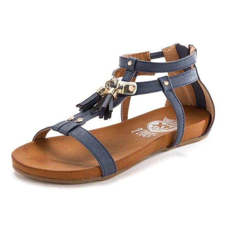 Sandalias Niña y Mujer XTI con borlas - Sigue las tendencias sin perder la sencillez y practicidad de estas cómodas y elegantes sandalias con borlas y cremallera en el talón, lo que las hace comodísimas de usar. #sandálias #sandals #sandales