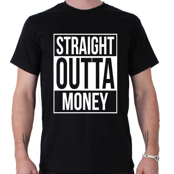 >> Click to Buy << Shirt  T Shirt Regular Short O-Neck Mens Straight Outta Money Comedy Funny Slogan Straight Outa Compton Tee Shirt #Affiliate