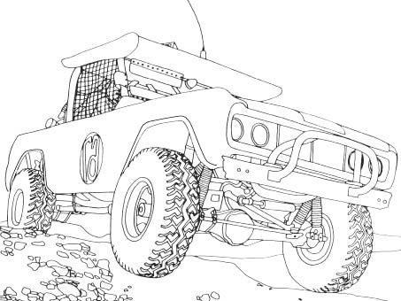 Jeep Off Road Coloring Page