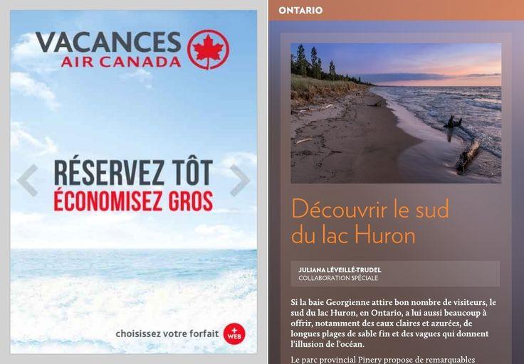 Si la baie Georgienne attire bon nombre de visiteurs, le sud du lac Huron, en Ontario, a lui aussi beaucoup à offrir, notamment des eaux claires et azurées, de longues plages de sable fin et des vagues qui donnent l'illusion de l'océan.-Le parc provincial Pinery propose de remarquabl
