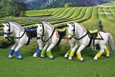 Sattel Trense SET Standard Color Zubehör passend für  Schleich Pferde Pferd