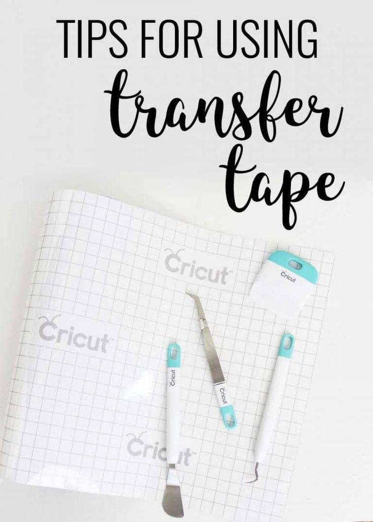 How to Use Cricut Transfer Tape How to use cricut, Vinyl