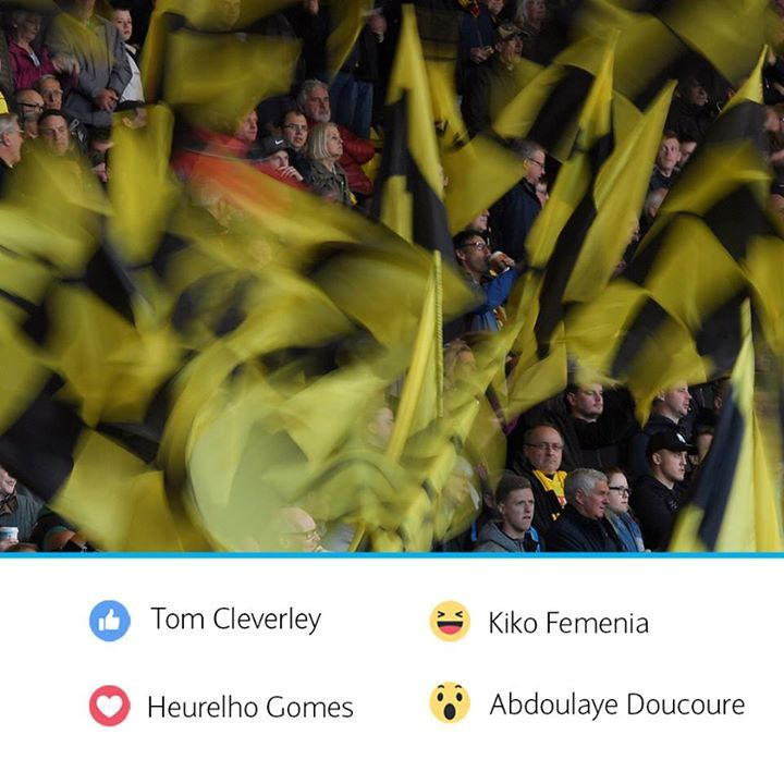 For your chance to win tickets to see Watford FC take on Arsenal at Vicarage Road, use the Facebook Reactions to answer the following question…  Which Watford player has completed the most passes this Premier League season?   Tom Cleverley Kiko Femenia Heurelho Gomes Abdoulaye Doucoure #fashion #style #stylish #love #me #cute #photooftheday #nails #hair #beauty #beautiful #design #model #dress #shoes #heels #styles #outfit #purse #jewelry #shopping #glam #cheerfriends #bestfriends #cheer…