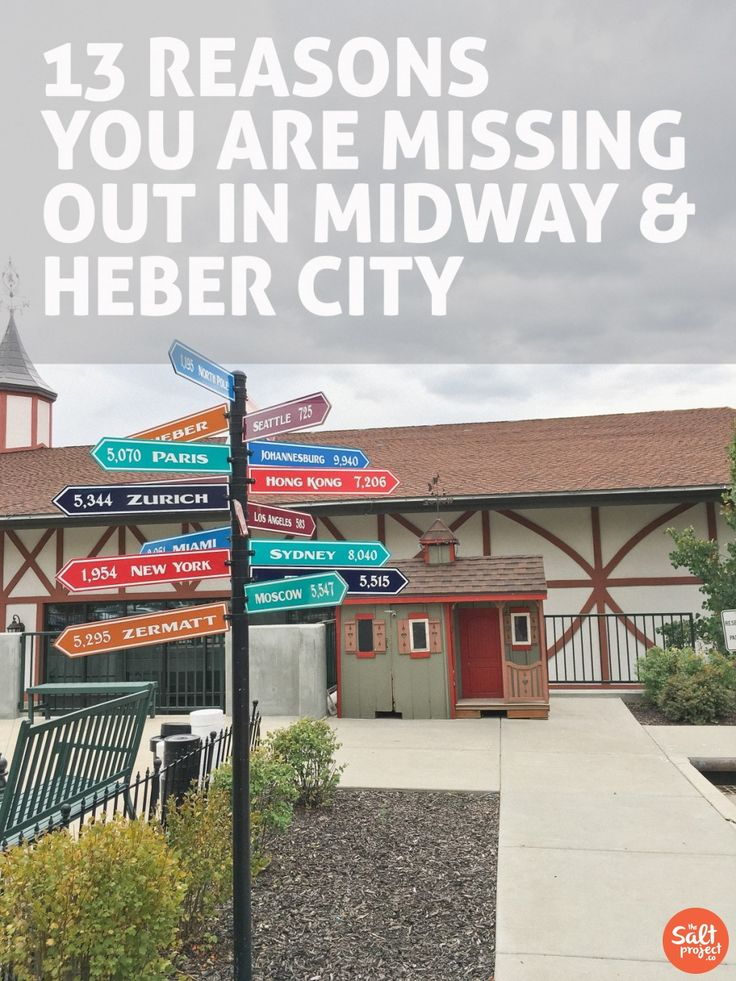 13 Reasons You Are Missing Out in Midway and Heber City. | The Salt Project | Things to do in Utah with kids