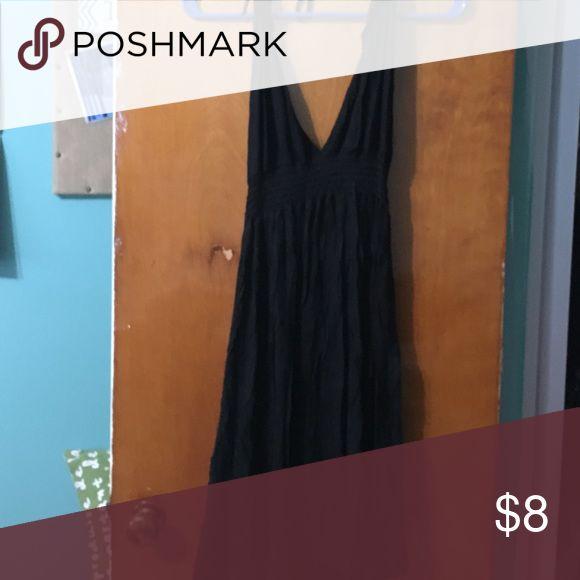 Black halter sundress Size medium Velvet Torch Dresses Backless