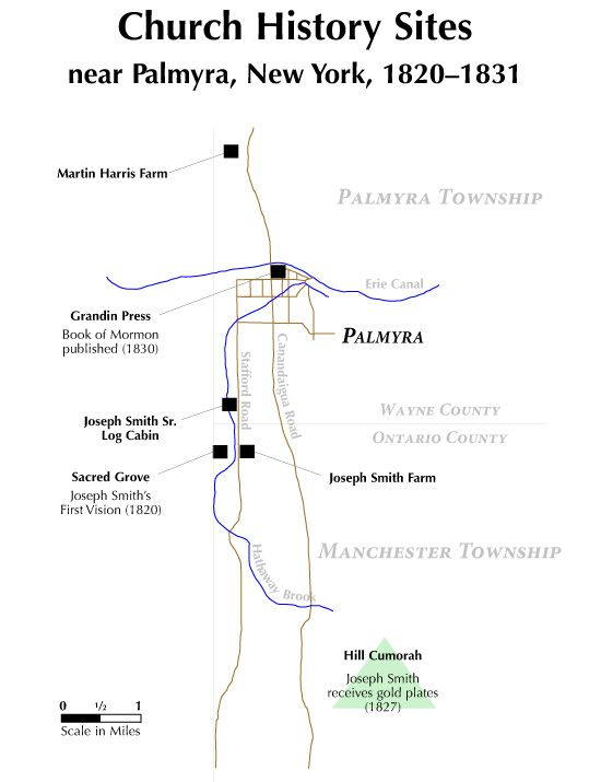 1-11 Church History Sites near Palmyra, New York, 1820–1831