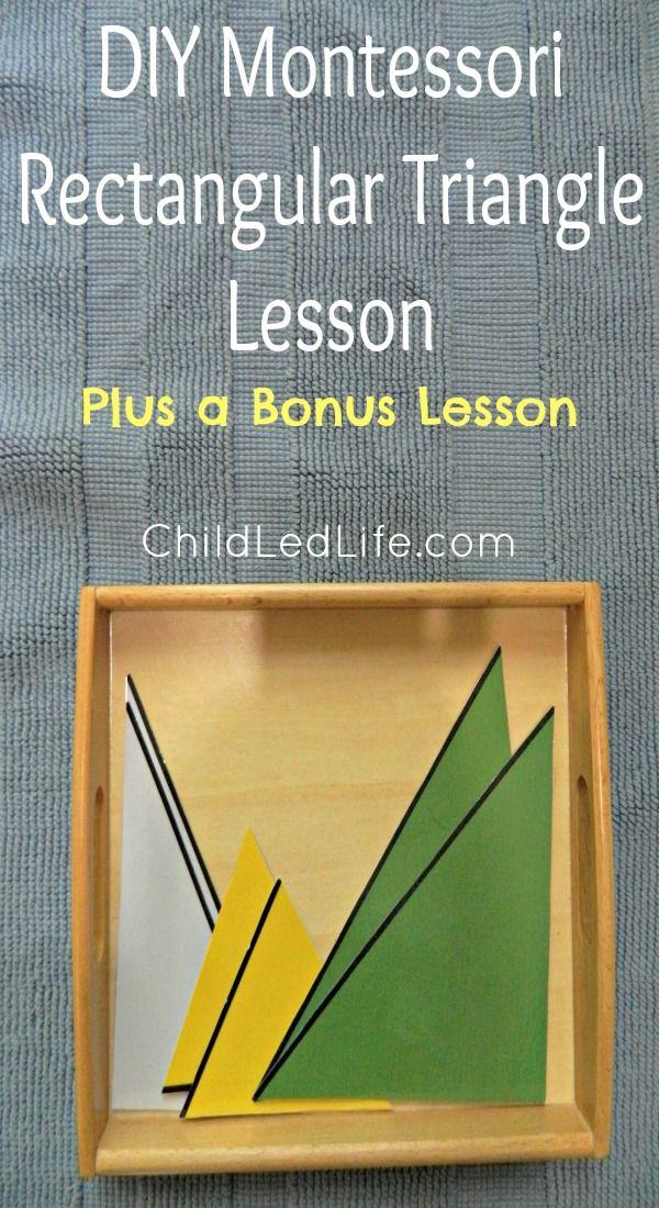 DIY Montessori Rectangular Triangles Lesson