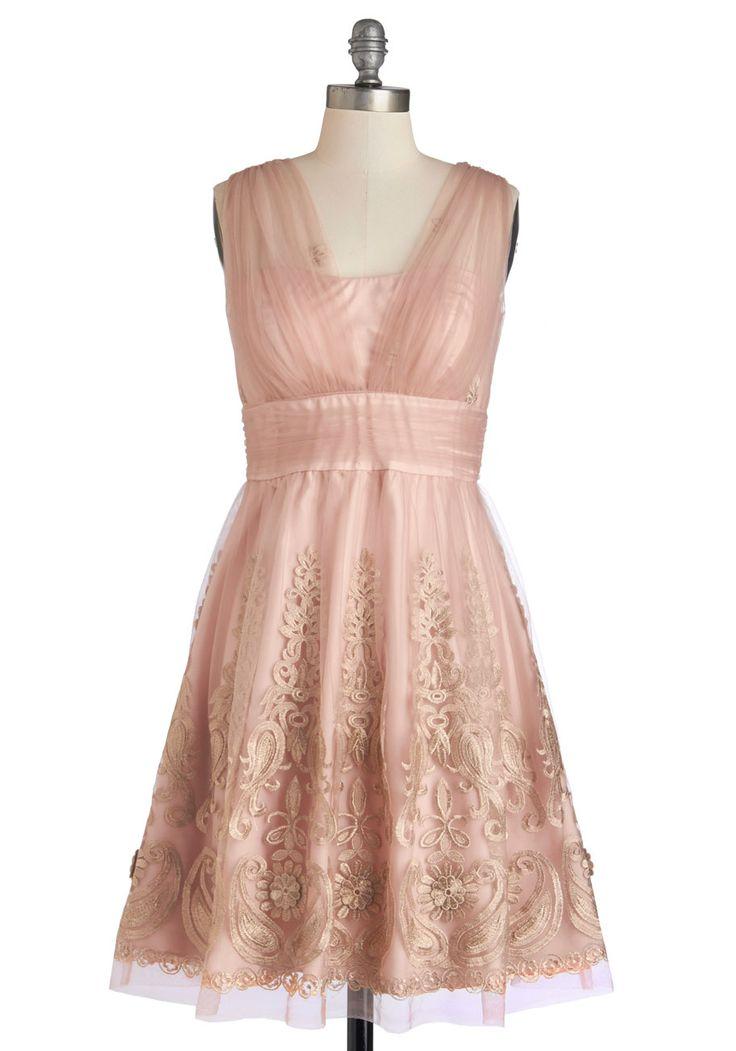 Adorable Blush Bridesmaids dress