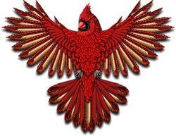 Beadwork Cardinal Naumaddic Arts! NaumaddicArts@gmail.com
