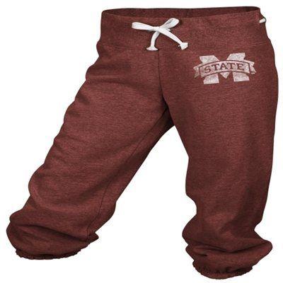 adidas Mississippi State Bulldogs Maroon Women's Big Better Logo Cropped Capri Pants