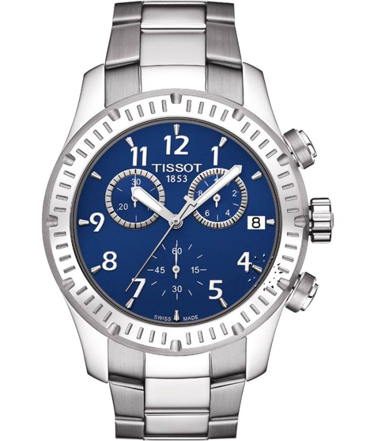 TISSOT SPORT V8 Stainless Steel Bracelet Blue Dial Η τιμή μας: 319€ http://www.oroloi.gr/product_info.php?products_id=35727