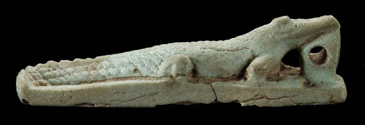 Amulet of a crocodile. Egyptian, Late Period, 25th-30th Dynasty, 760-332 B.C.