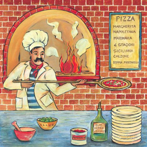 Bella Pizza II Posters by L. Morales at AllPosters.com