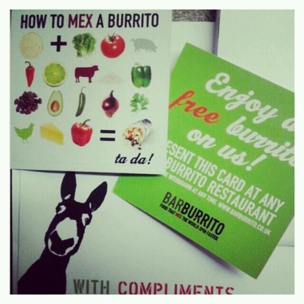 Barburrito - winner! Free vouchers :)  Mexican food