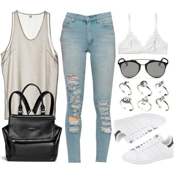 Style #9956 by vany-alvarado on Polyvore featuring moda, Cheap Monday, Monki, adidas, Givenchy, ASOS and Christian Dior