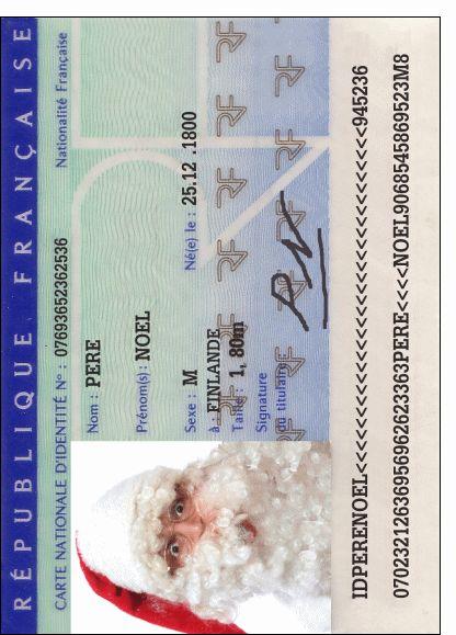 Merci Facteur Carte D Identite Du Pere Noel Pere Noel Cartes